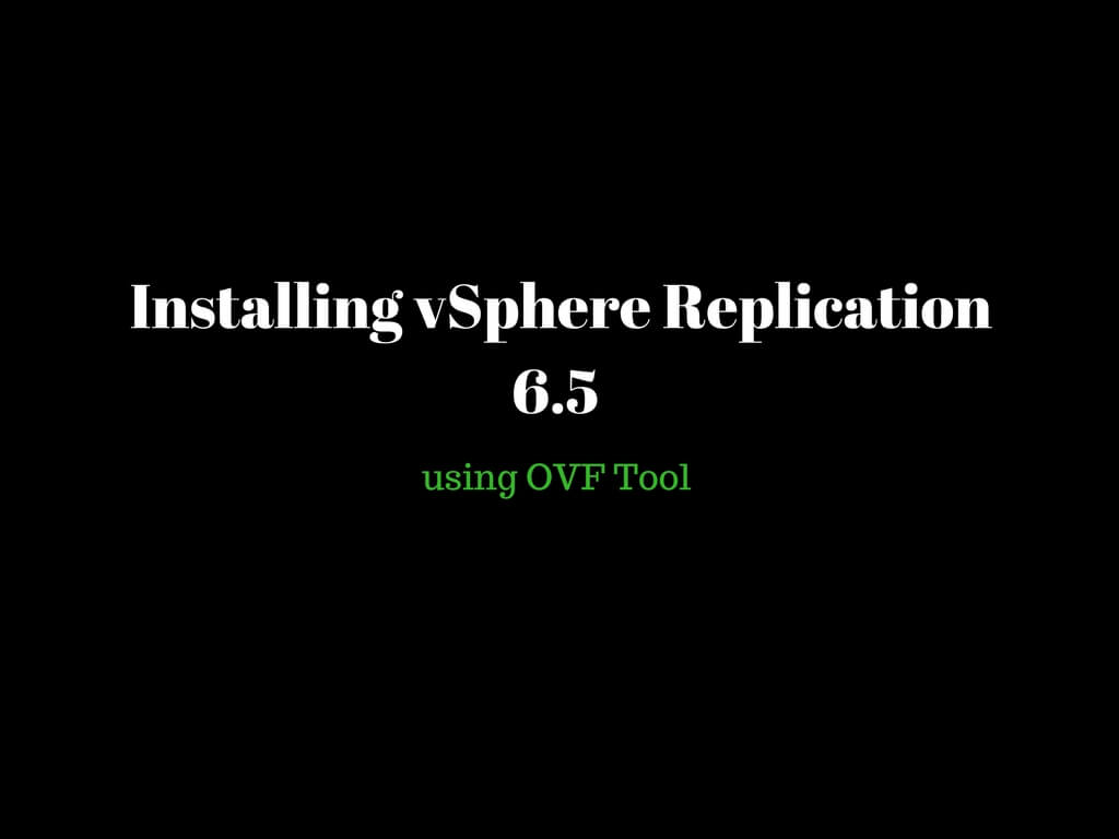 Configuring replication for an individual VM under vSphere