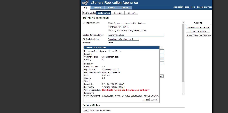 Installing vSphere Replication 6 5 using OVF Tool - vSphere
